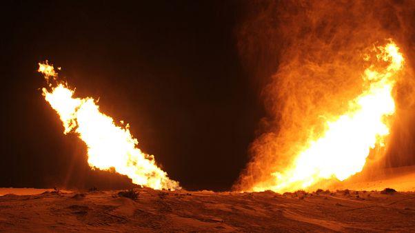 صورة أرشيفية لتفجير مماثل لخط الغاز عام 2012