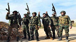 سربازان بشار اسد در استان ادلب