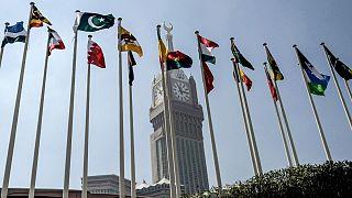 پرچم برخی از کشورهای عضو سازمان همکاریهای اسلامی