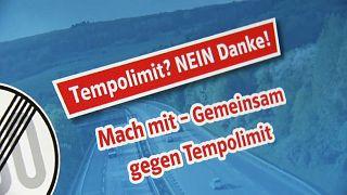 Internetkampagne der CSU zum Tempolimit auf deutschen Autobahnen