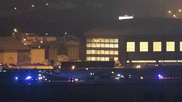 Aterriza de emergencia en Barajas un avión averiado de Air Canadá
