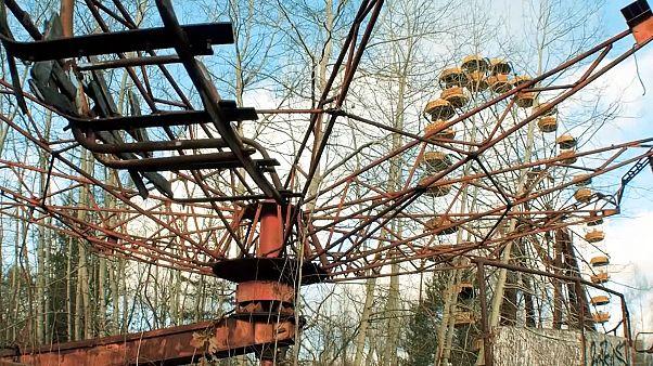 Pripyat, Ukraine - Chernobyl's ghost town for tourists - marks golden jubilee