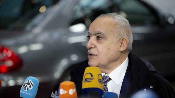 غسان سلامة، المبعوث الأممي إلى ليبيا في مؤتمر صحافي في كانون الثاني/يناير 2020