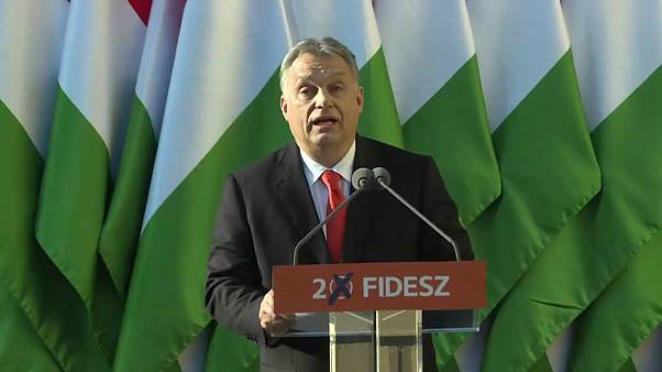 Viktor Orban speaking at a Fidesz Party Rally