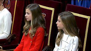 Kronprinzessin Leonor und ihre Schwester Sofia