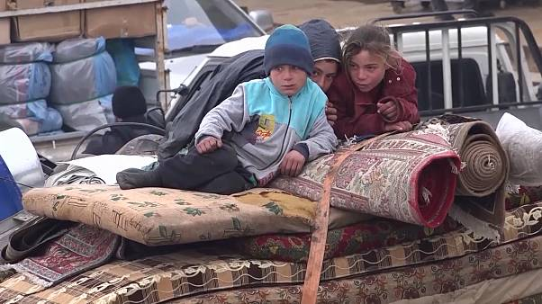 Nearly 300,000 displaced from Idlib by Syrian government bombardment