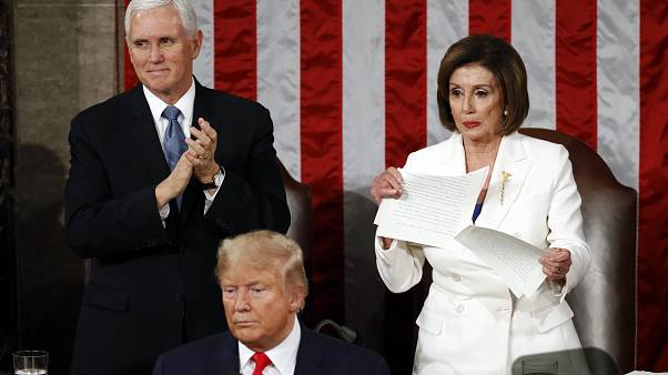 Party divisions on display as Trump gives annual State of the Union address
