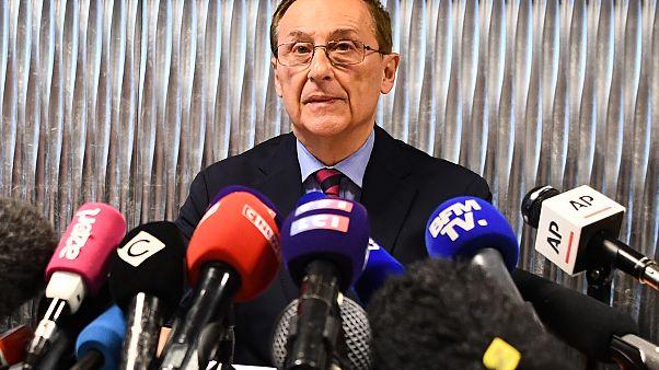 Didier Gailhaguet, président de la fédération de patinage, en conférence de presse suite à des révélations sur des violences sexuelles dans le patinage artistique