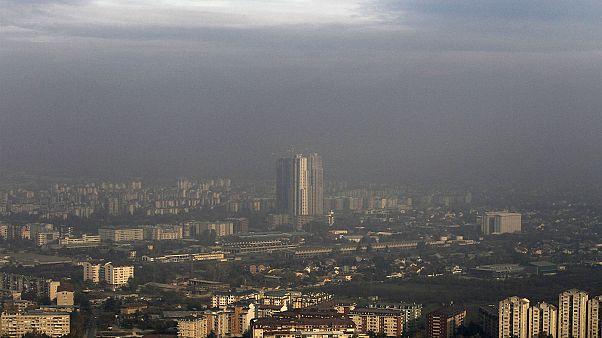 Διαδήλωση οικολόγων στα Σκόπια κατά της μόλυνσης της ατμόσφαιρας