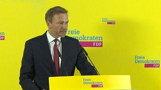 FDP-Chef Christian Lindner bei Stellungnahme nach der Wahl