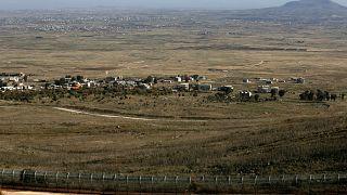 مدينة القنيطرة الواقعة في الجولان السوري. الصورة التقطت من الجانب الذي تحتله إسرائيل في 23/12/2019