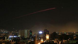 تصویری از فعالیت پدافند ضد هوایی سوریه در دمشق در سال ۲۰۱۴