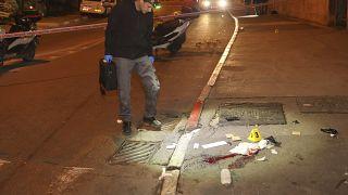 Polizist am Anschlagsort in Jerusalem