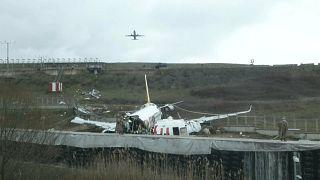 Verunglückte Boeing 737 der türkischen Fluggesellschaft Pegasus