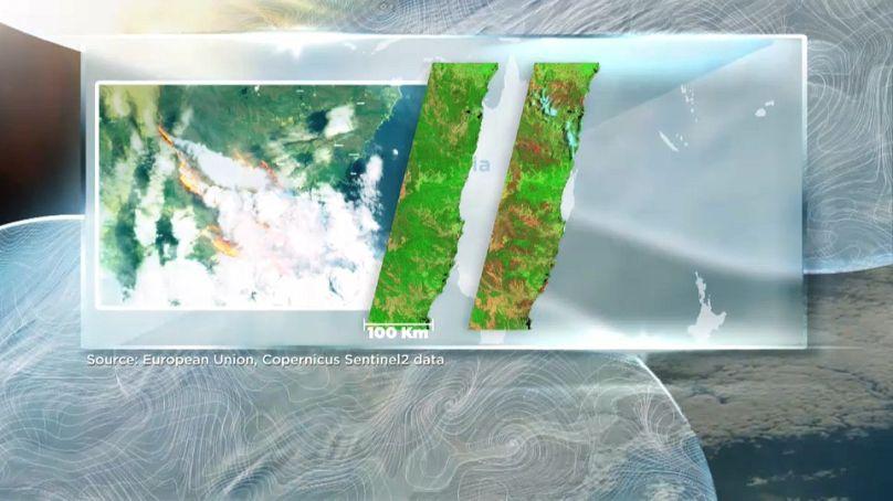 European Union Sentinel-2 data / Euronews