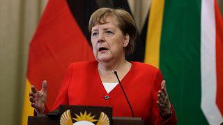 A német kancellár Dél-Afrikában reagált a türingiai szavazásra