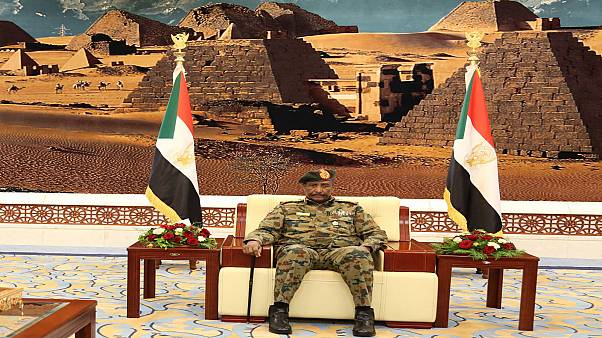الجنرال عبد الفتاح البرهان رئيس المجلس السيادي الانتقالي في السودان. آب 2019