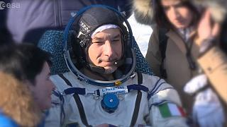 ISS crew return to earth with a with a hero's and heroine's welcome