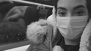 Ilham Mounssif wearing a mask due to the coronavirus outbreak