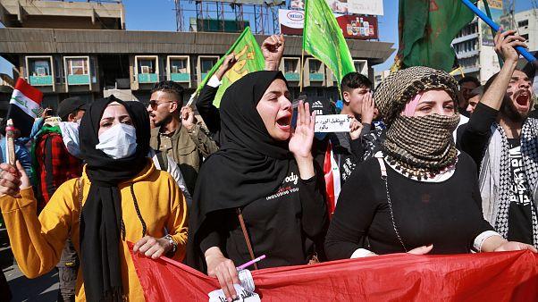 شاهد: مظاهرات طلابية في بغداد تضامنا مع أحداث النجف