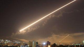 سماء دمشق خلال قصف أميركي تعرضت له في 2018 (أرشيف)