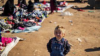 El Hol kampında bir çocuk