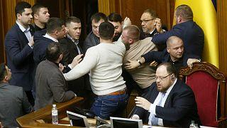 جانب من جلسة البرلمان الأوكراني