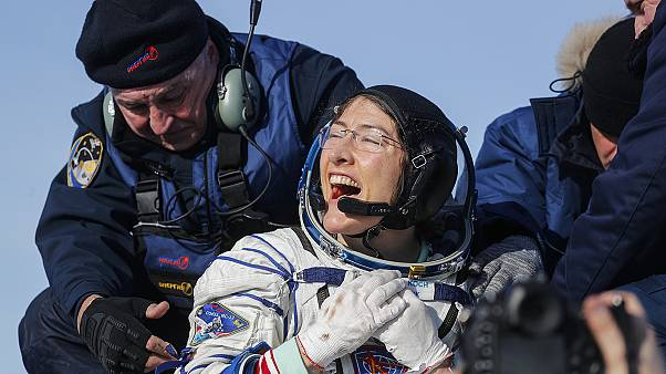 NASA astronotu Christina Koch, Dünya'ya döndü