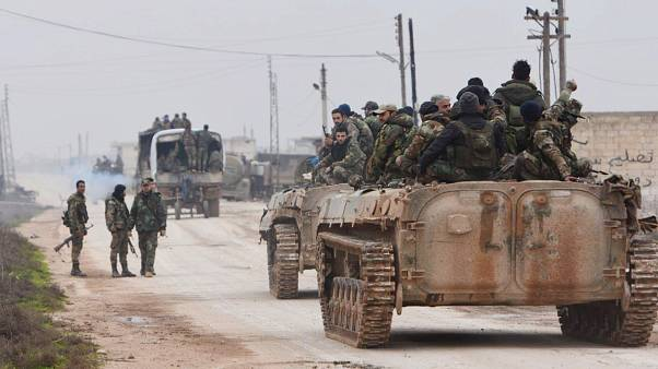 دوريات مؤللة للجيش السوري في تل طوقان (5 شباط/فبراير 2020)