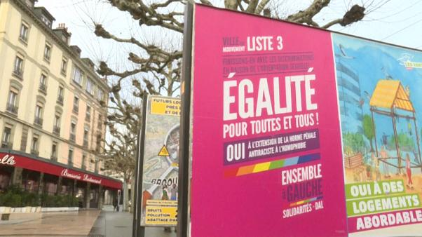 A campaign poster on display in Geneva.