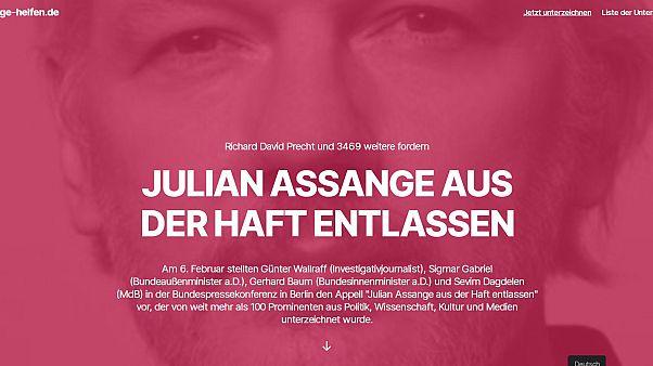 Γερμανία: Έκκληση για την απελευθέρωση του Ασάνζ