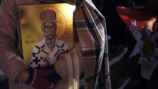 Protesaktion gegen das Kirchengesetz im Januar 2020