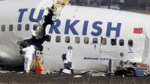 Amsterdam Schiphol Havaalanı'nda, 2009 yılında Türk Havayollarına ait uçak kaza yapmıştı. CopyrightAP Photo/ Bas Czerwinski