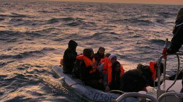 French authorities rescued 11 migrants attempting to cross teh English channel on February 7, 2020.