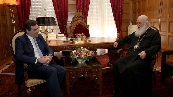 Συνάντηση Ιερωνύμου με τον αντιπρόεδρο της Κομισιόν Μ. Σχοινά