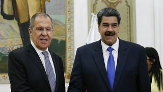Rusya Dışişleri Bakanı Sergey Lavrov ile Venezuela Devlet Başkanı Nicolas Maduro