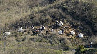 Kobe Bryant'ın da içinde bulunduğu helikopterin kaza yaptığı yamaç