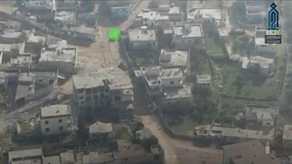 ویدئوی حمله انتحاری با خودروی بمبگذاری شده در استان ادلب سوریه