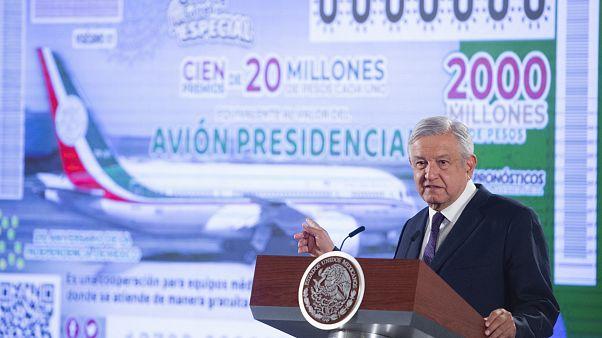 Meksika Devlet Başkanı Obrador hastane yapmak için lüks başkanlık uçağını piyangoya koydu