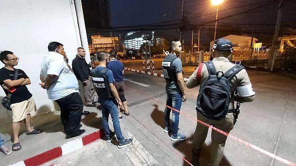Sur les lieux de la fusillade au centre commercial Terminal 21, à Korat, en Thaïlande, le samedi 8 février 2020.