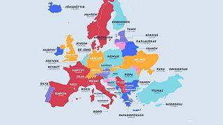 En yaygın soyadı haritası