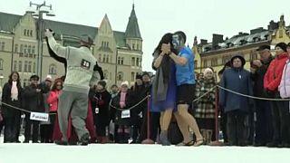 Ελσίνκι: Διαγωνισμός τανγκό στο χιόνι
