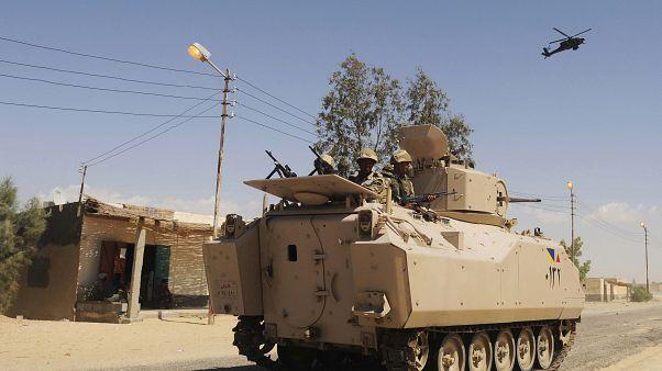 دورية مؤللة تابعة للجيش المصري في شمال سيناء