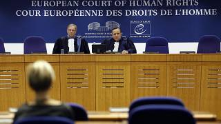 A hearing at the European Court of Human Rights in Strasbourg, eastern France, Nov.15, 2018.