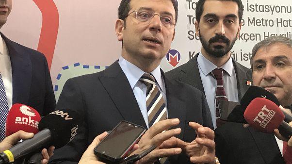 İBB Başkanı Ekrem İmamoğlu, Kaynarca-Pendik-Tuzla Metrosu'nun yapım işlerinin yeniden başlama töreni sonrası basın mensuplarının sorularını yanıtladı