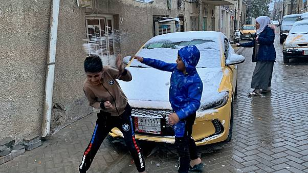 В Багдаде выпал снег