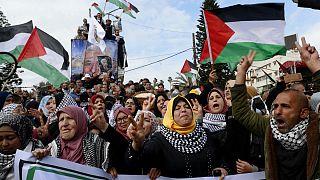 اعتراض فلسطینیها به «معامله قرن» ترامپ همزمان با سخنرانی عباس در سازمان ملل