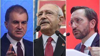 Ömer Çelik, Kemal Kılıçdaroğlu ve Fahrettin Altun