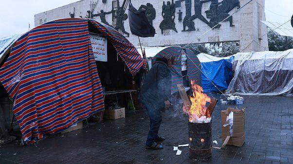 جانب من اعتصام ساحة التحرير في بغداد، 11 فبراير 2020