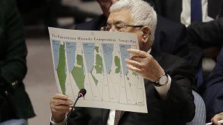 Le président palestinien Mahmoud Abbas au Conseil de sécurité des Nations Unis, le 11 février 2020